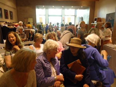 Fashion & Fiction lovers assembling for the Eileen Fisher Reading