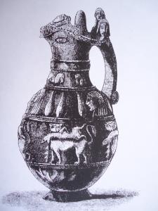 Rare Etruscan Bucchero - shiny black pottery jug