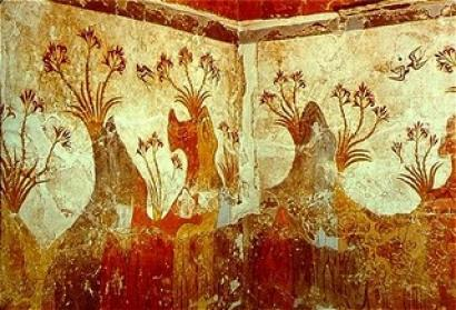 Botanical Art - Minoan wall fresco