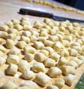 gnocchi di patate on table before cooking